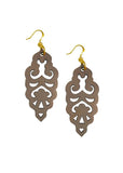 Filigree Earrings - Warm Taupe - Large