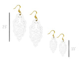 Filigree Earrings - Bright White - Mini - K. Johnson Jewelry LLC