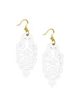 Filigree Earrings - Large - Bright White