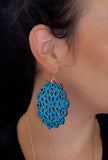 Mandala Earrings - Large - Riverside Blue