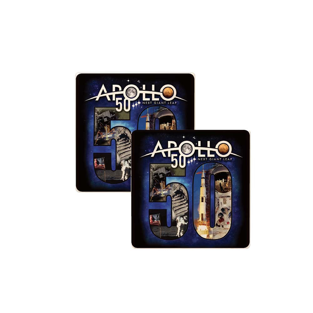 Apollo 11 50th Anniversary Coaster Set