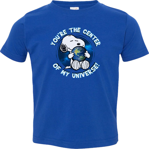 Snoopy Center of the Universe Toddler Tshirt