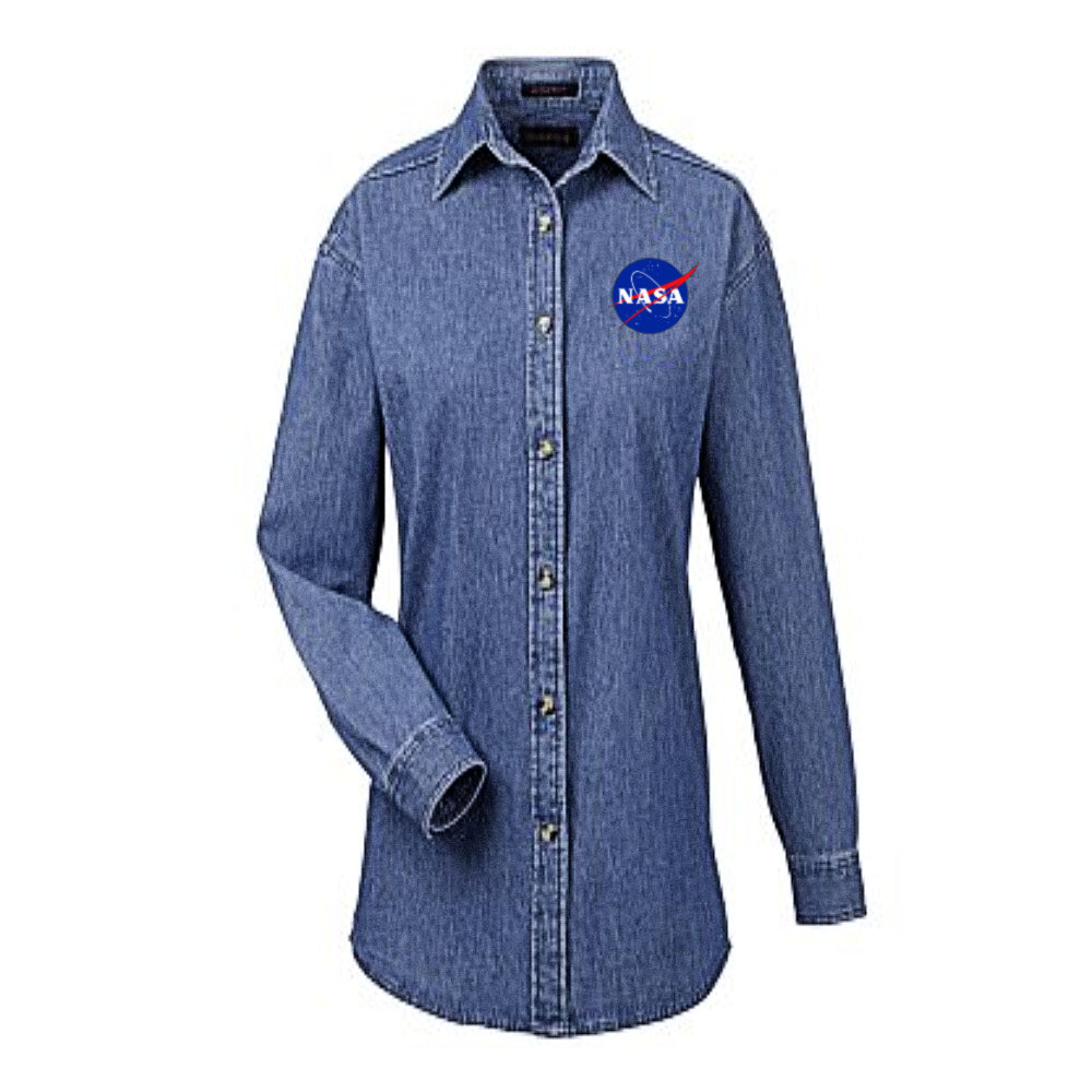 Ladies NASA Denim Shirt