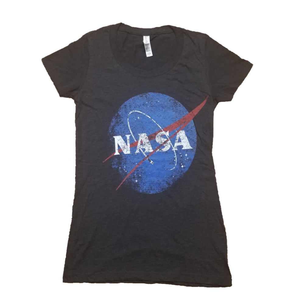 Women's Black Retro NASA T-Shirt
