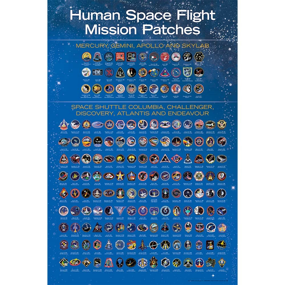 Human Space Flight Patch Poster