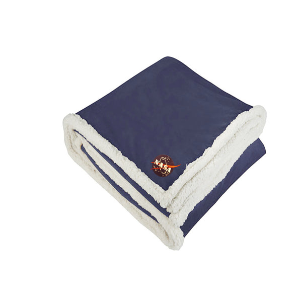 NASA Navy Sherpa Blanket