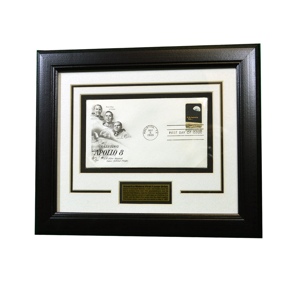 Framed Apollo 8 Lunar Orbit Stamp Set