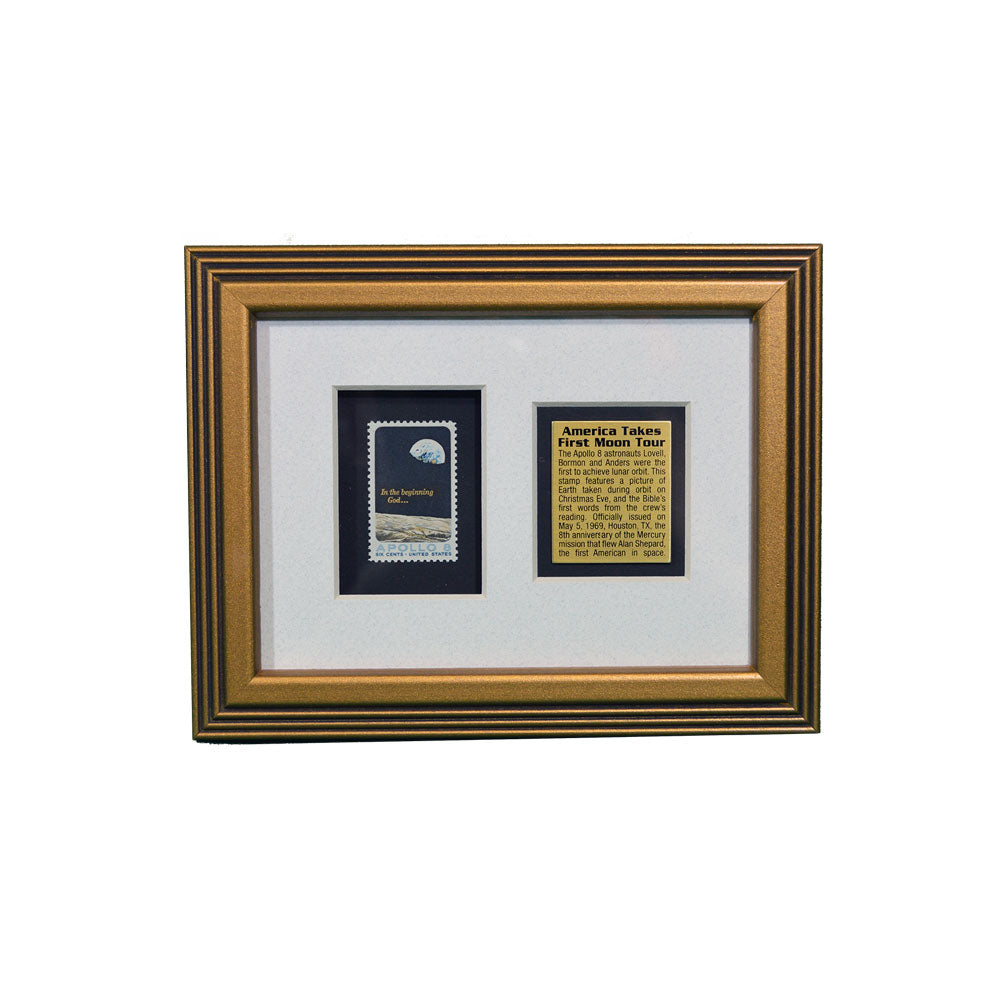 Framed 5x7 Apollo 8 Stamp