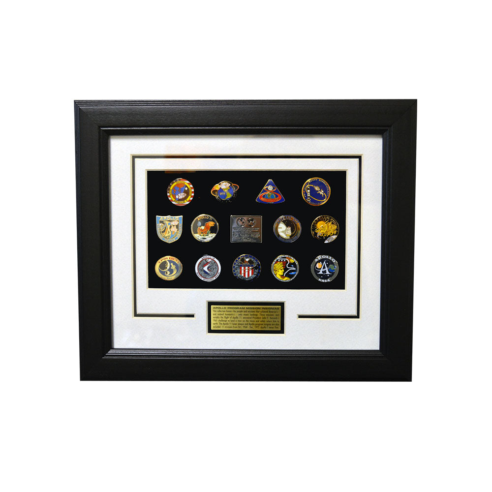Apollo Mission Framed Pin Set