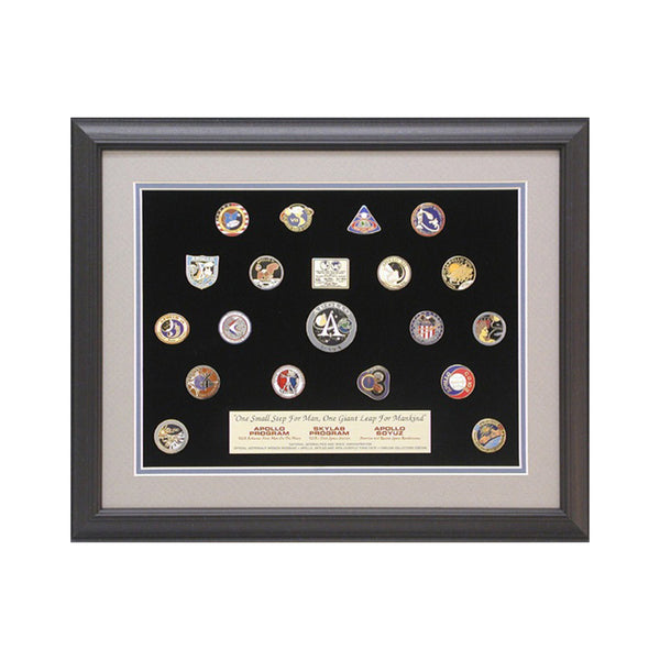 Apollo/Skylab/Apollo Soyuz Framed pin Set