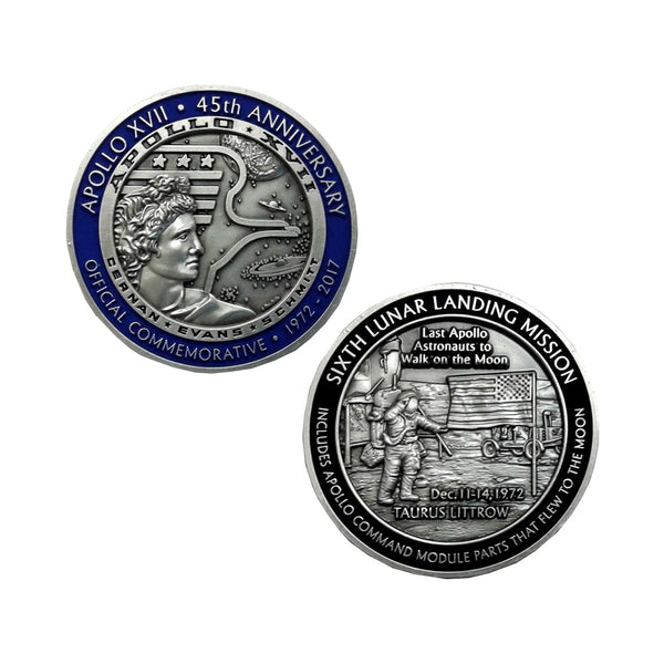 Apollo 17 45th Anniversary Commemorative Medallion