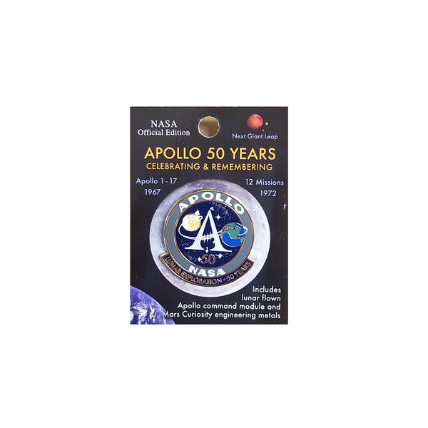 Apollo Program 50th Anniversary Lapel Pin