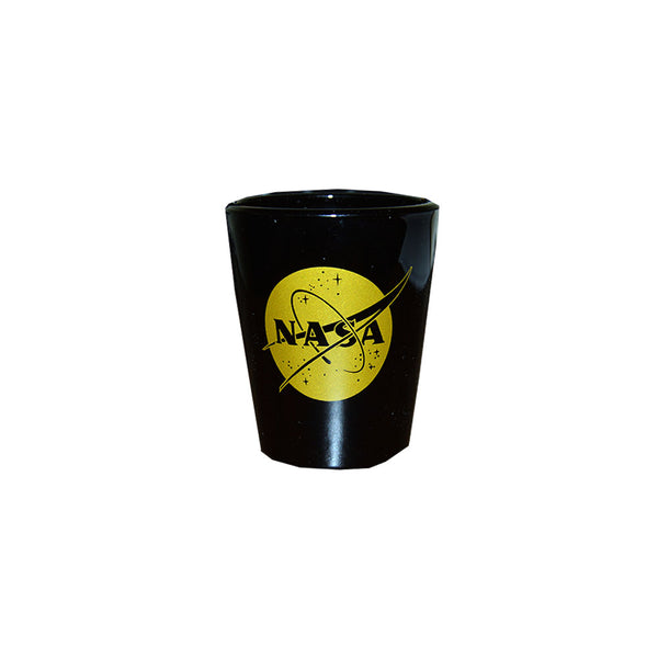Black NASA Shot Glass