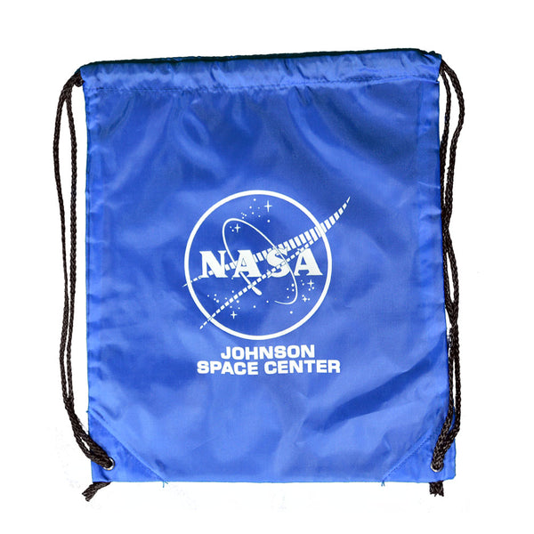 Blue NASA Johnson Space Center Drawstring Bag
