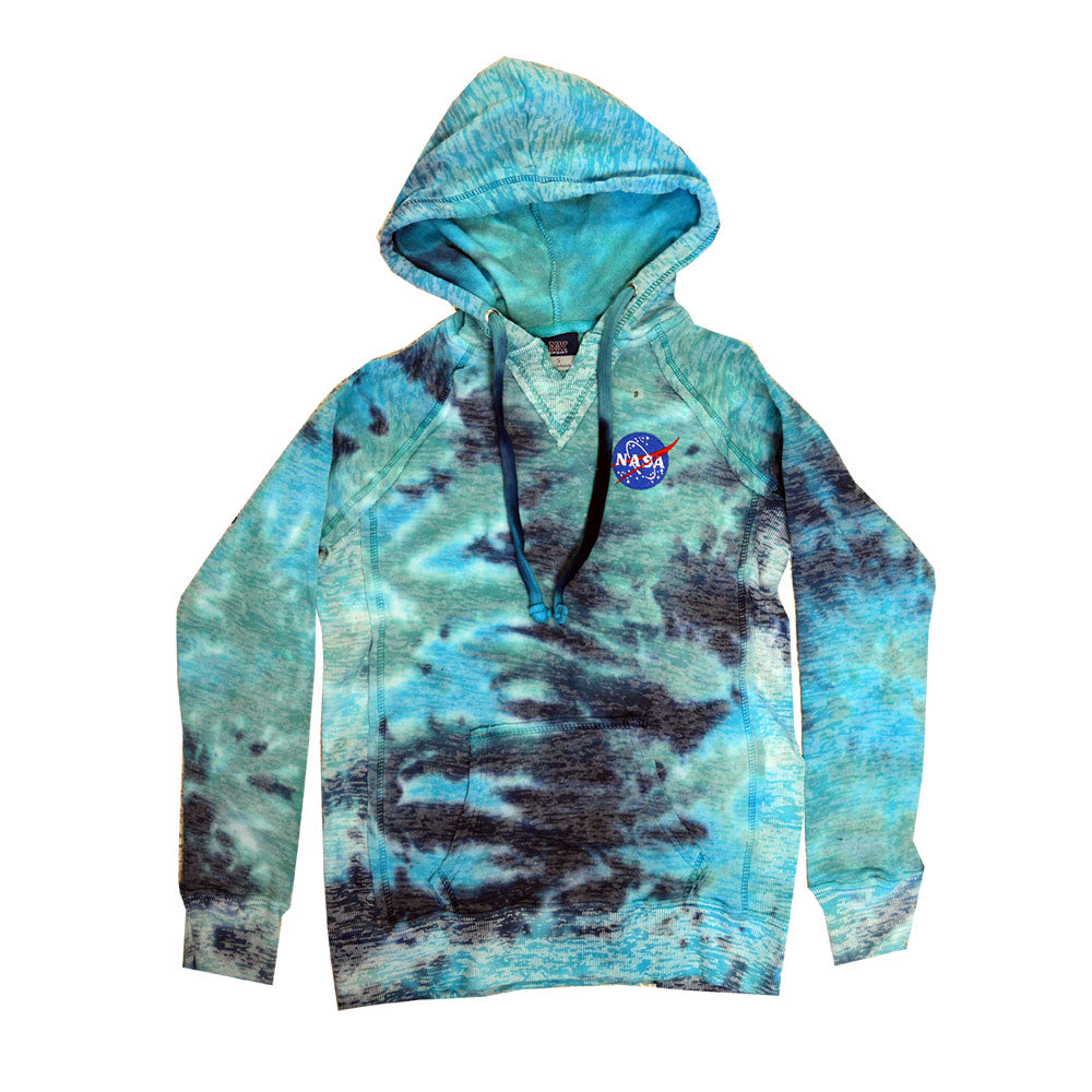 Ladies Blue Tye Dye NASA Hoodie