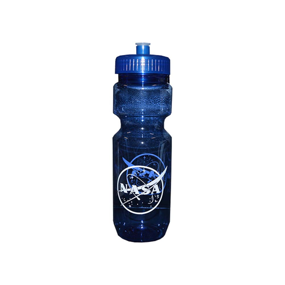 Blue Plastic NASA Bottle