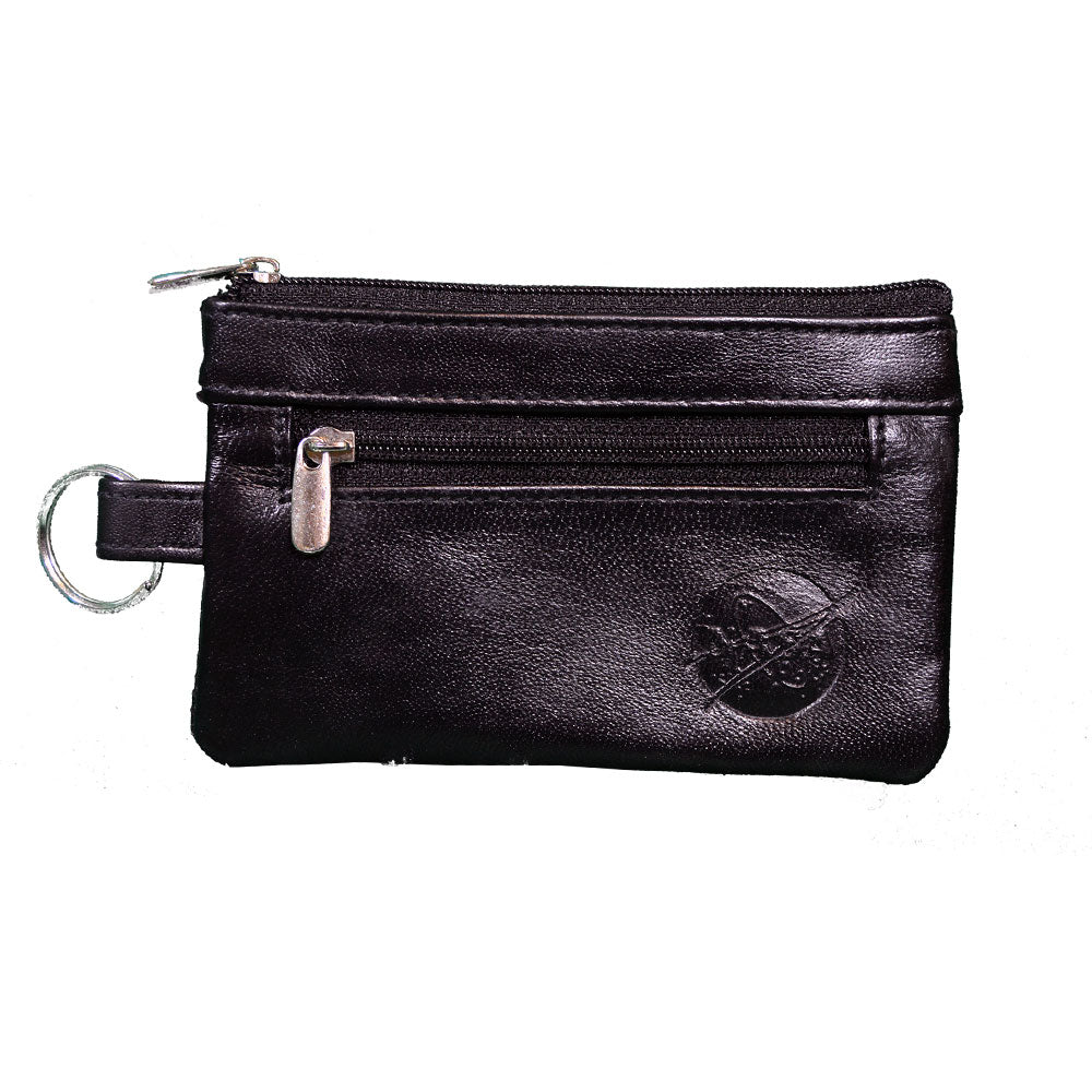 Black Leather NASA Coin Purse
