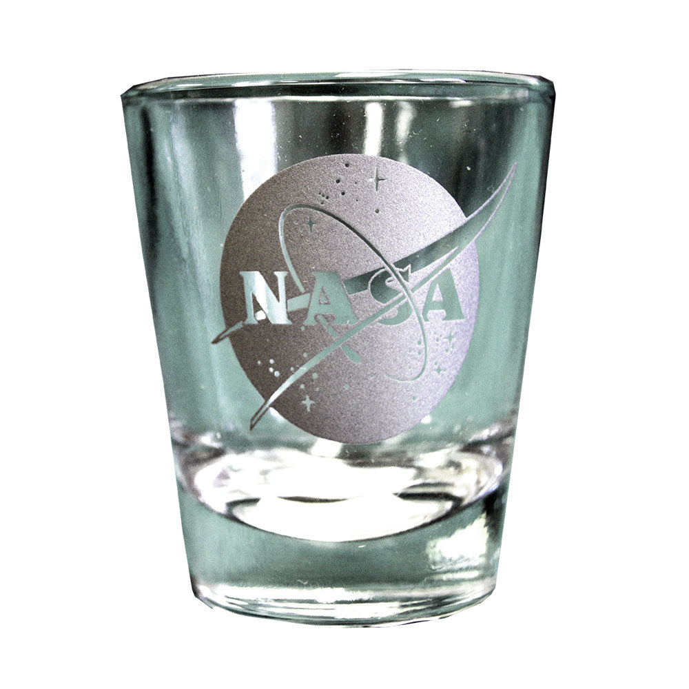 Clear NASA Shot Glass
