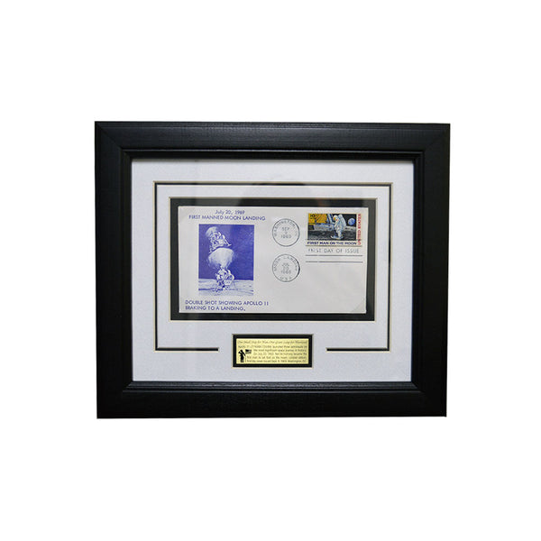 Apollo 11 Double Shot Framed Stamp Set
