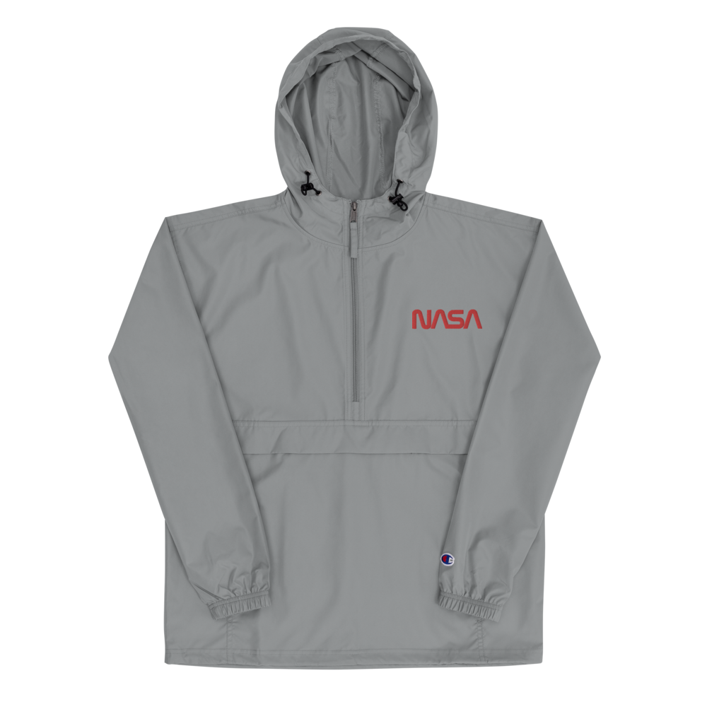 NASA Worm Embroidered Champion Packable Jacket