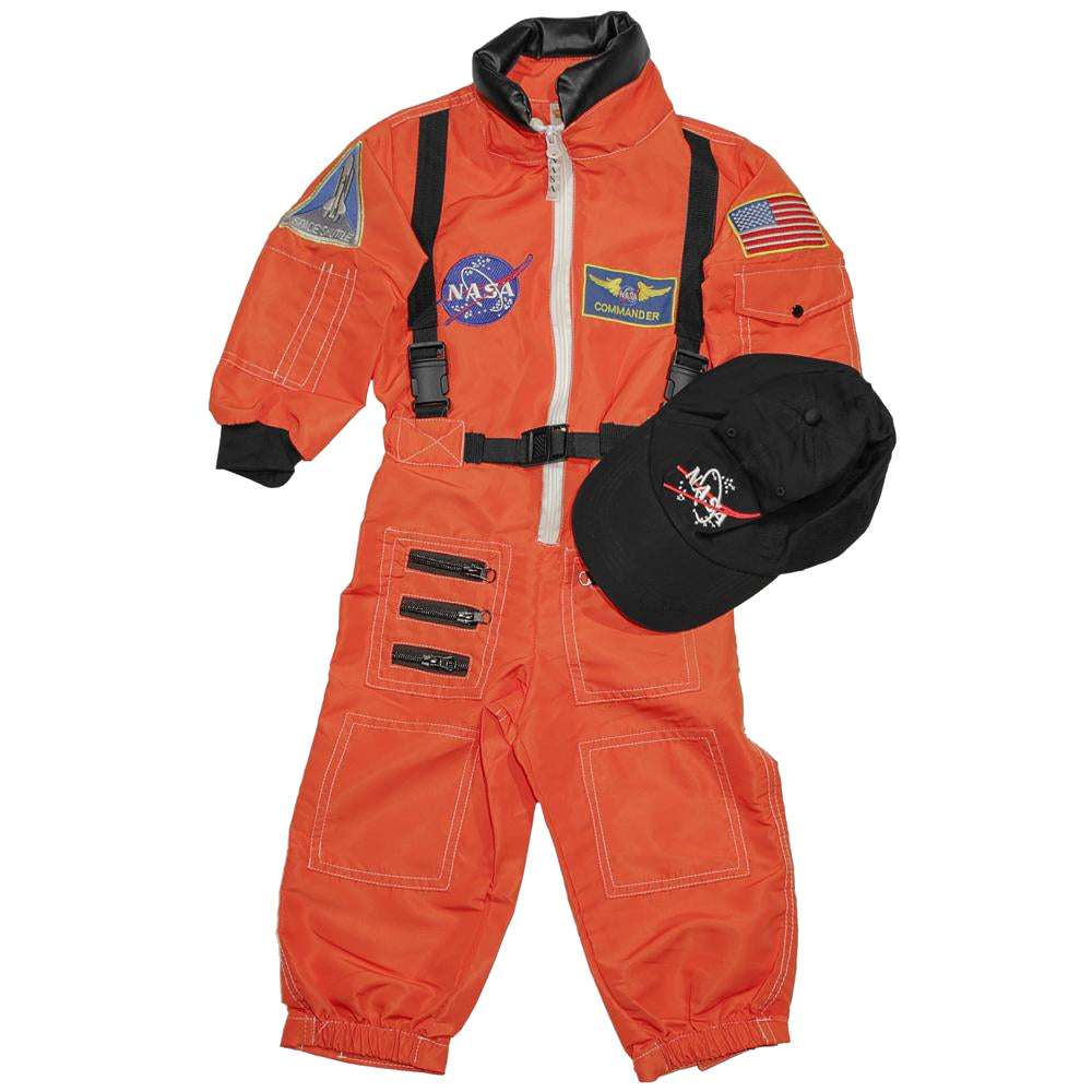 Orange Astronaut Flight Suit