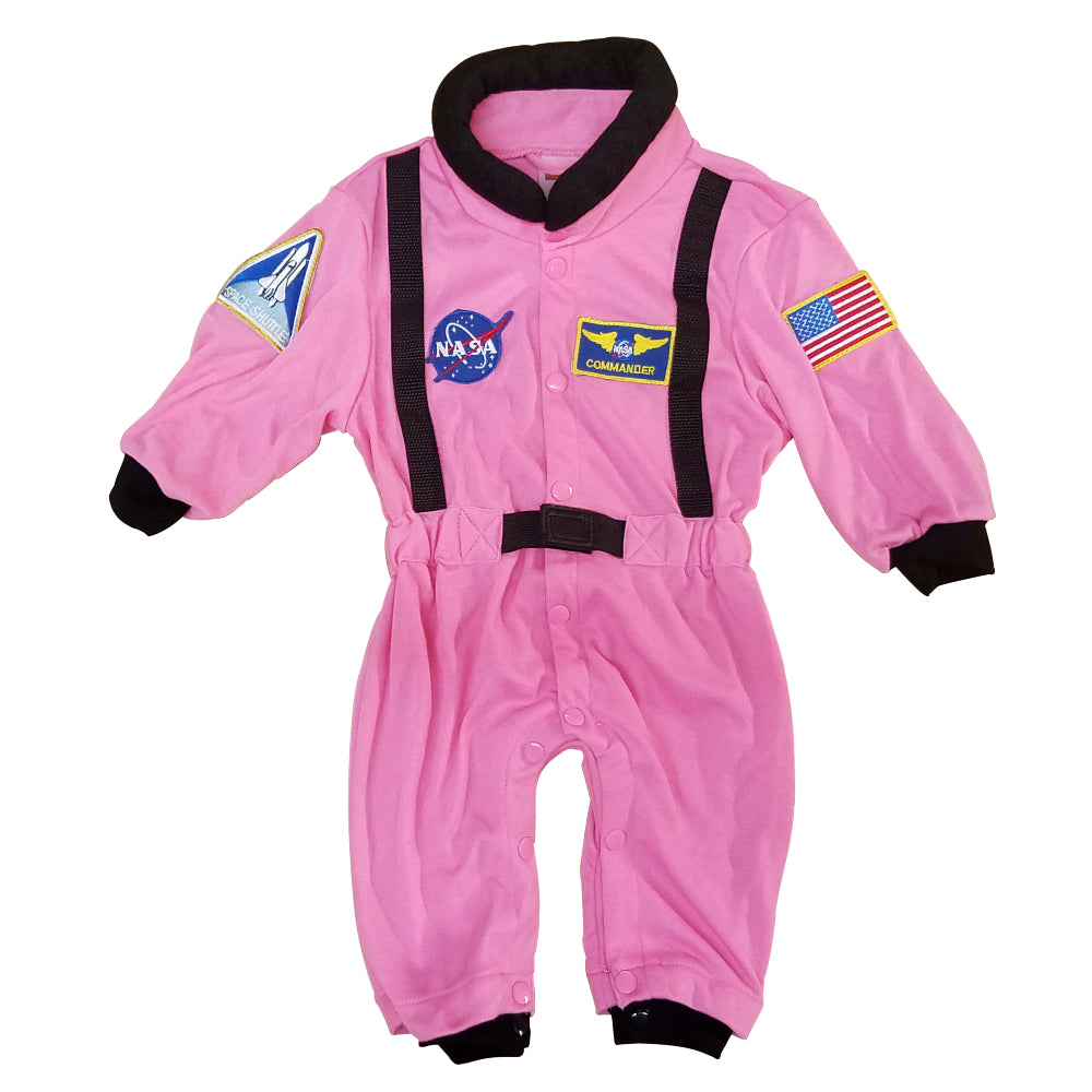 Pink Baby Flight Suit