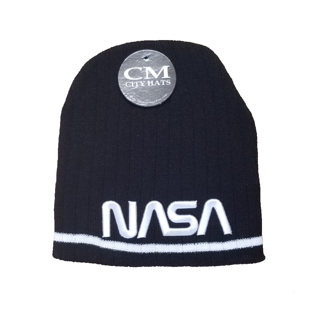NASA Knit Worm Hat
