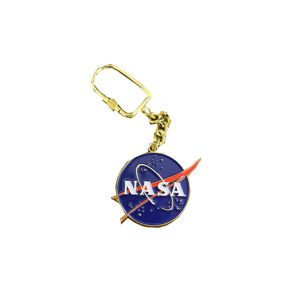 Large Gold NASA Key Chain