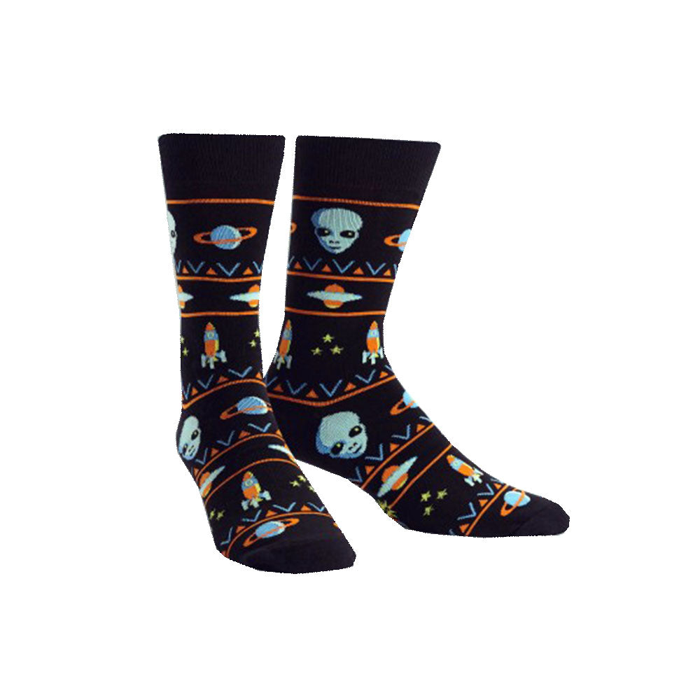 Men's Alien Sweater Sighting Socks
