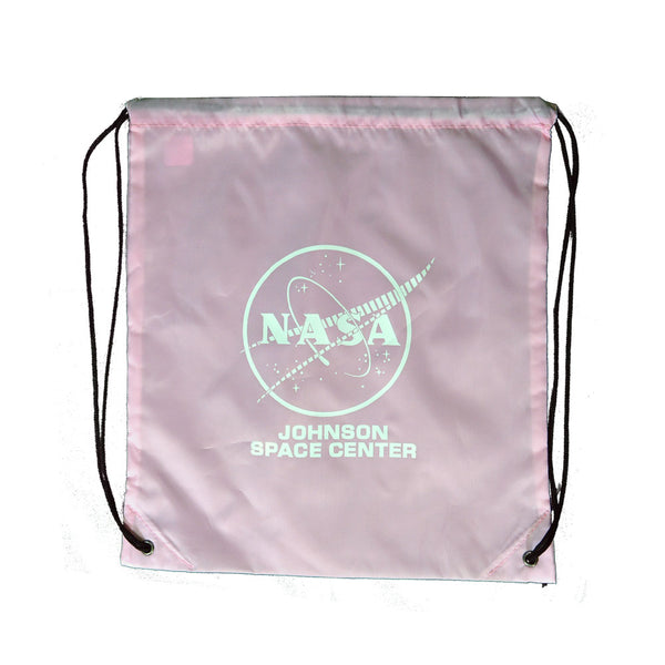 Pink NASA Johnson Space Center Drawstring Bag