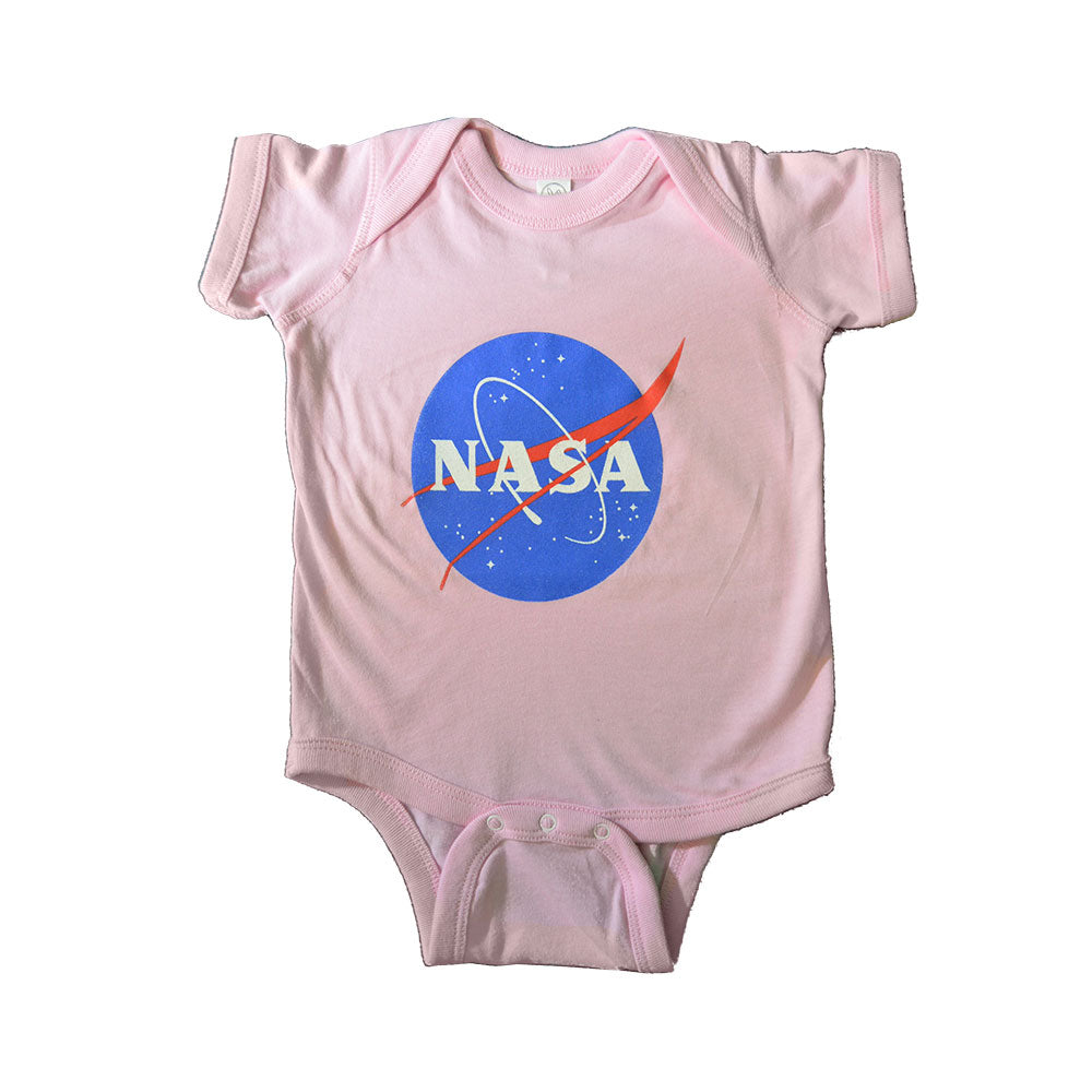 Pink Onesie With NASA Meatball
