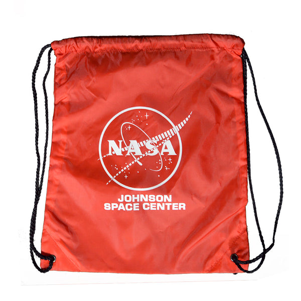 Red NASA Johnson Space Center Drawstring Bag