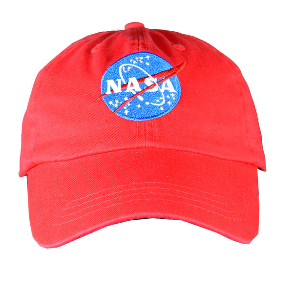 Red NASA Cap With Meatball