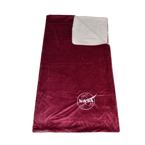 Burgundy NASA Sherpa Blanket