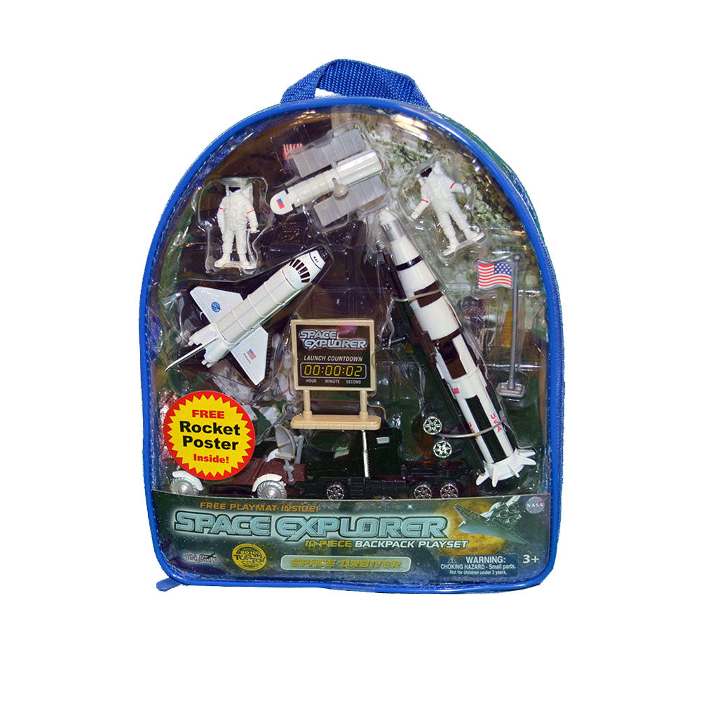 Space explorer 10-Piece Backpack Play Set