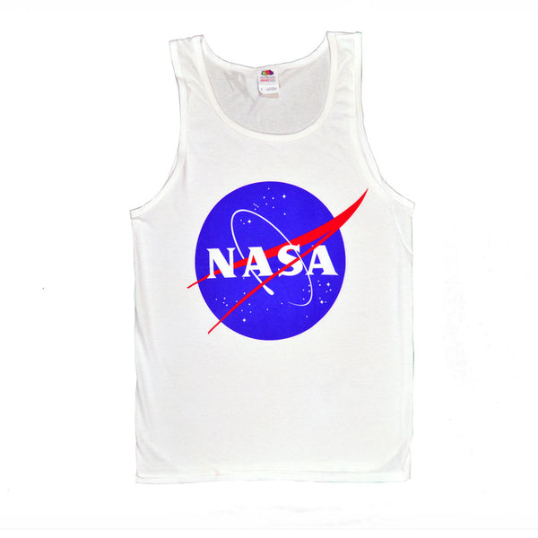 White NASA Meatball Tank Top