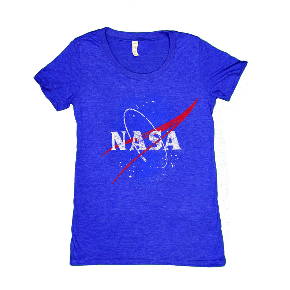 Women's Blue Retro NASA T-Shirt