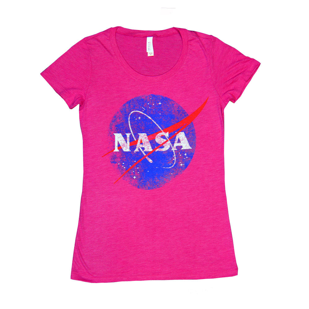Women's Pink Retro NASA T-Shirt