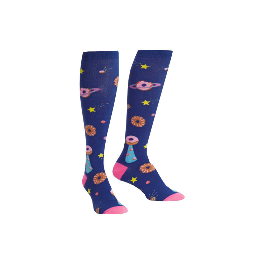 Ladies Glazed Galaxy Socks