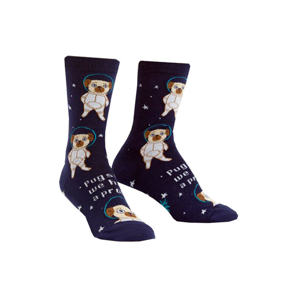 Women's Pugston, We Have a Problem Socks