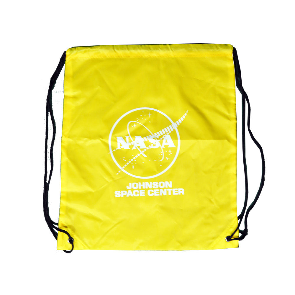 Yellow NASA Johnson Space Center Drawstring Bag