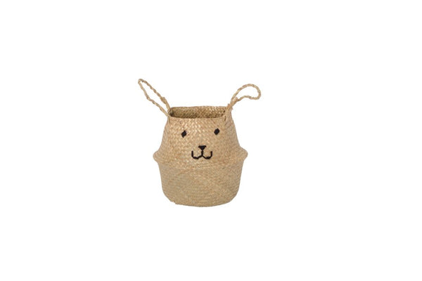 Wild Design Lab - Embroidered Belly Basket Animal Face