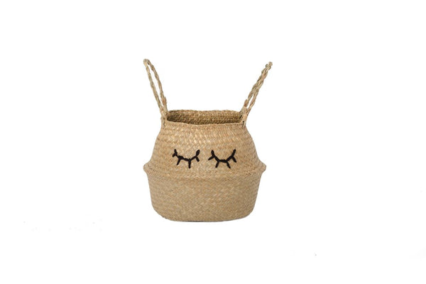 Wild Design Lab - Embroidered Belly Basket Sleepy Eyes