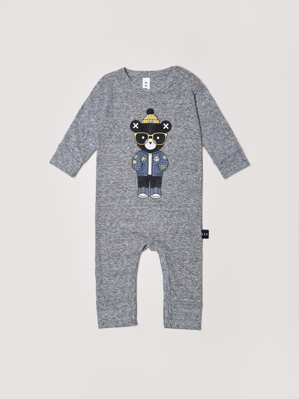 HUXBABY - Huxbear Charcoal Romper *PREORDER*