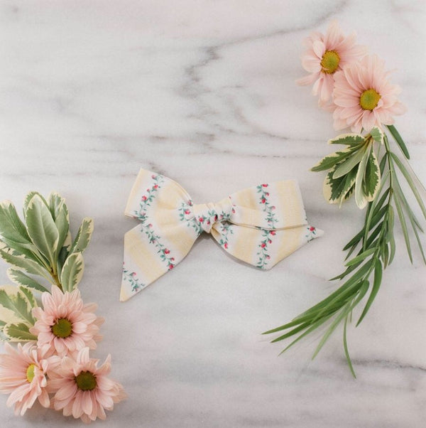 Lavender and Lillie - Jumbo Bow - Yellow Vine