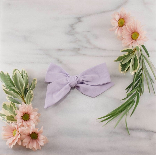 Lavender and Lillie - Jumbo Bow - Lavender