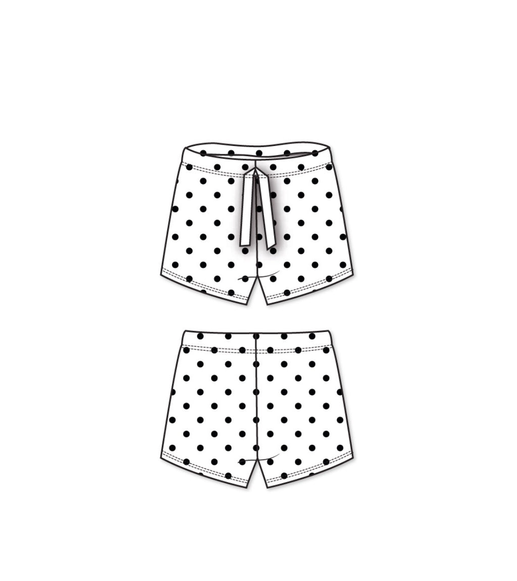 Imagine Perry - Black and White Polkadot Boardies