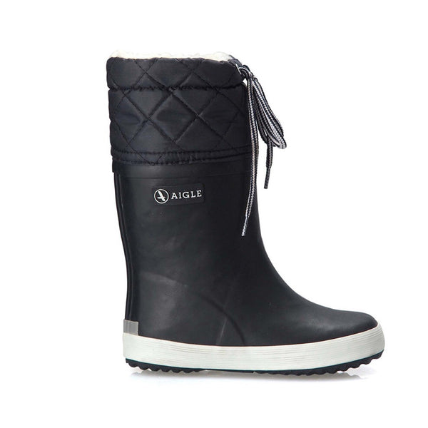 Aigle - Giboulee Rubber Boots Black/White