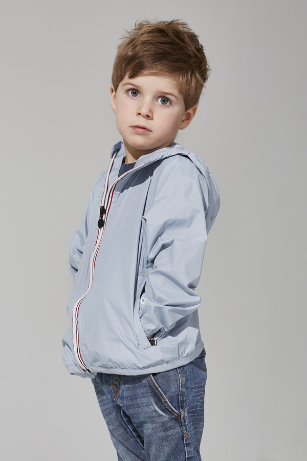 O8Lifestyle - Kids Celestial Blue Full Zip Packable Jacket