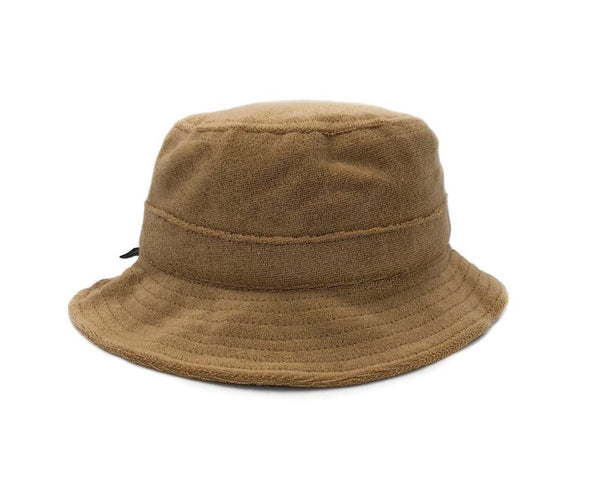 fini - terry bucket hat - tan
